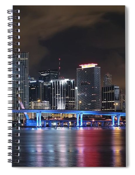 Port Of Miami Downtown Spiral Notebook