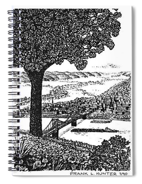 Portsmouth Ohio From A Kentucky Hill Spiral Notebook