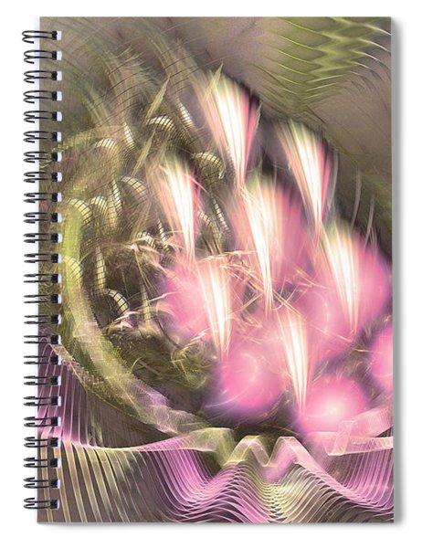 Pretty Lady Of Flowerbed - Abstract Art  Spiral Notebook