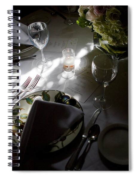 Pretty Place Setting Spiral Notebook