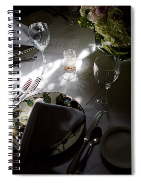 Spiral Notebook featuring the photograph Pretty Place Setting by Lorraine Devon Wilke