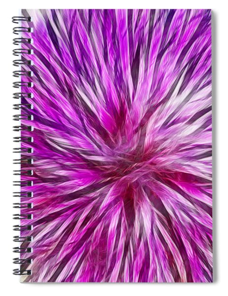 Purple Flower Fractal Spiral Notebook