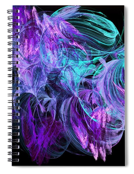 Purple Fusion Spiral Notebook