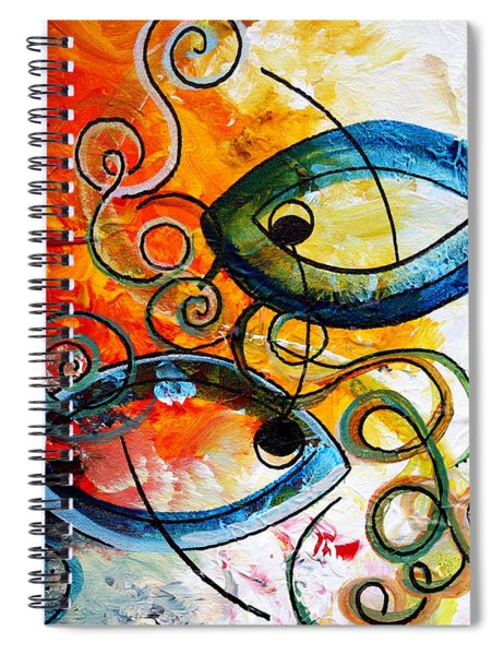 Purposeful Ichthus By Two Spiral Notebook