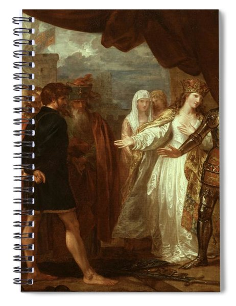 Queen Philippa Interceding For The Lives Of The Burghers Of Calais Spiral Notebook