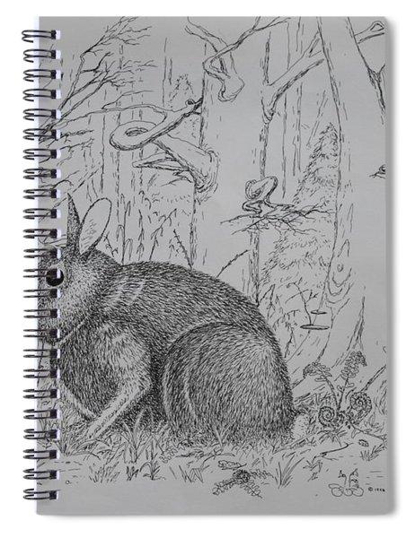 Rabbit In Woodland Spiral Notebook