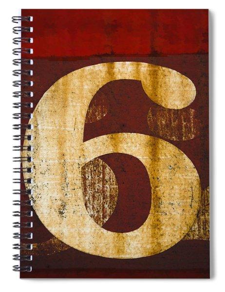 Railroad Car Number 6 Spiral Notebook