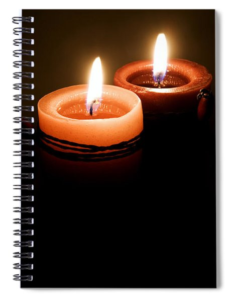 Red Candles Spiral Notebook