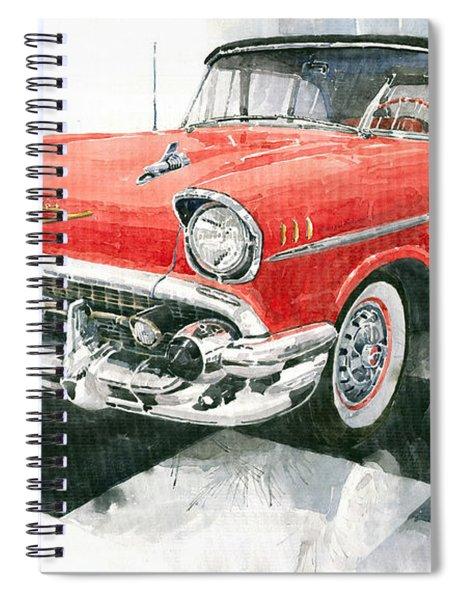 Red Chevrolet 1957 Spiral Notebook