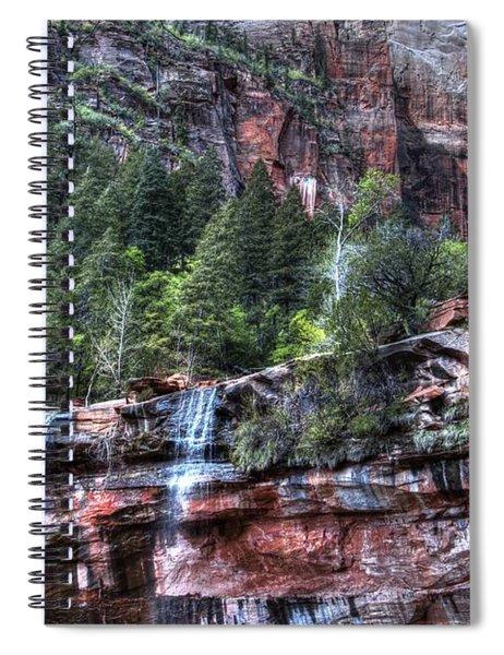 Red Falls Spiral Notebook