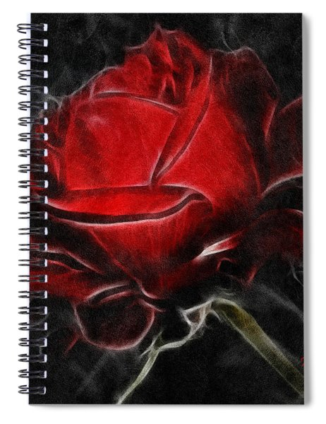 Red And Hot  Spiral Notebook