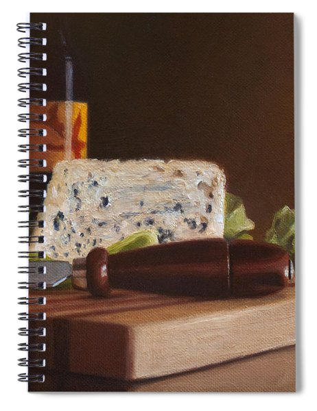 Red Wine And Bleu Cheese Spiral Notebook