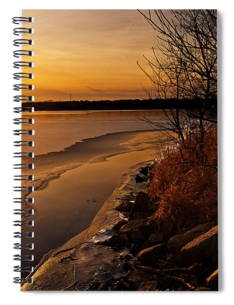 Spiral Notebook featuring the photograph Refreeze by Edward Peterson