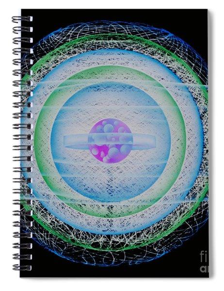 Rendering Of An Atom Spiral Notebook