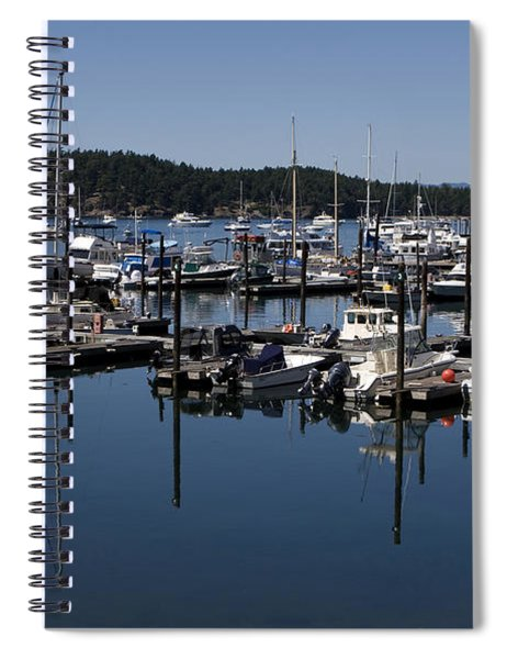 Spiral Notebook featuring the photograph Roche Harbor Reflected by Lorraine Devon Wilke