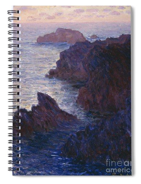 Rocks At Bell Ile Port Domois Spiral Notebook