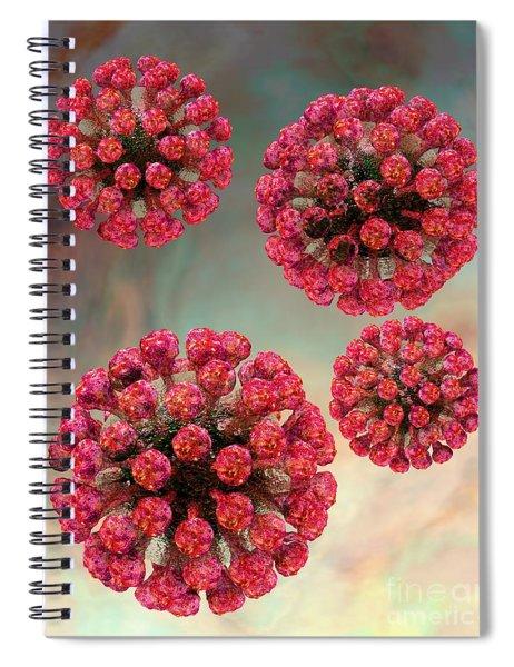 Rubella Virus Particles Spiral Notebook