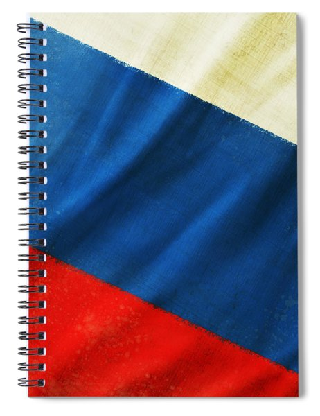 Russia Flag Spiral Notebook