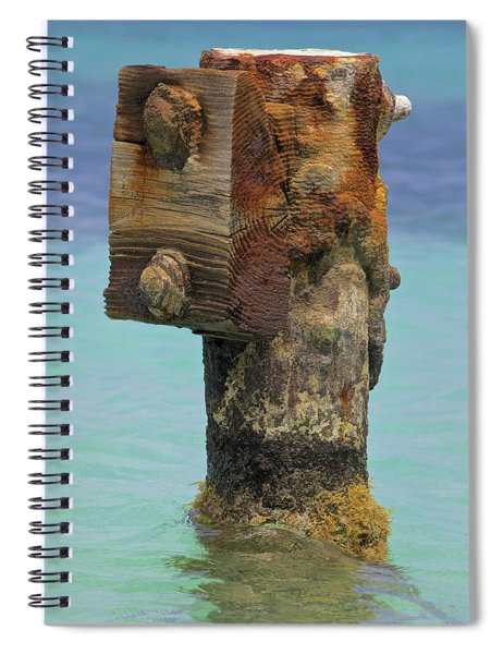 Rusted Dock Pier Of The Caribbean Iv Spiral Notebook