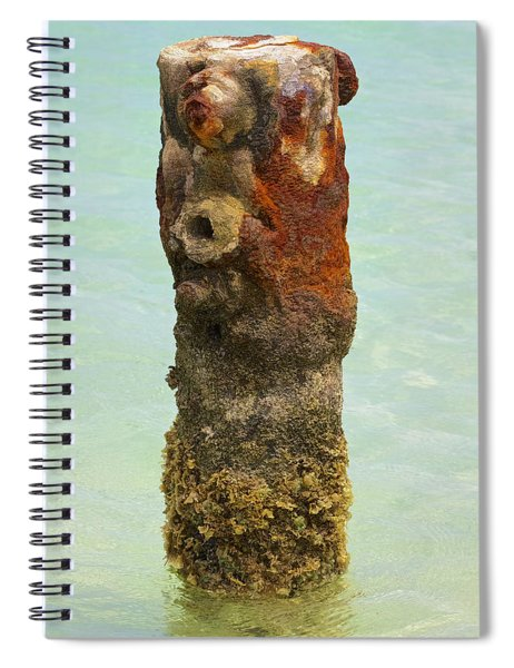 Rusted Dock Pier Of The Caribbean Vii Spiral Notebook