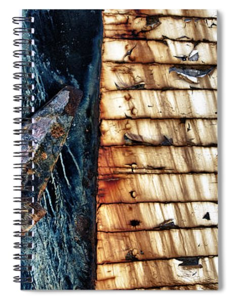 Rusting Boat Anchor Spiral Notebook