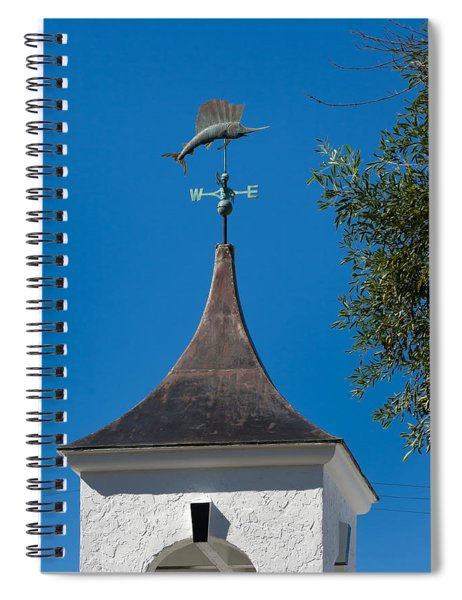 Spiral Notebook featuring the photograph Sailfish Weather Vane At Palm Beach Shores by Ed Gleichman