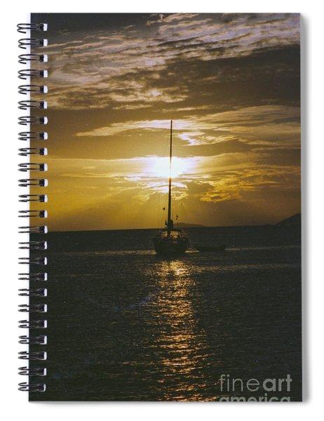 Sailing Sunset Spiral Notebook