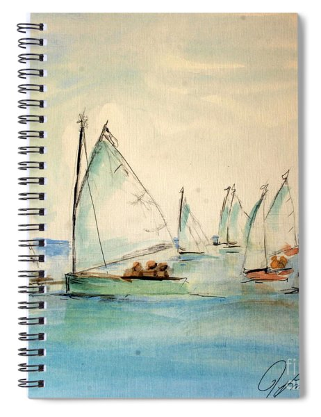 Sailors In A Runabout Spiral Notebook