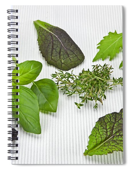 Salad Greens And Spices Spiral Notebook
