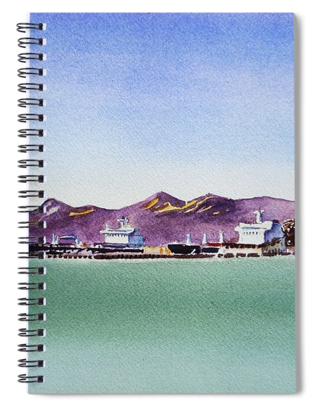 San Francisco Bay Richmond Port Spiral Notebook