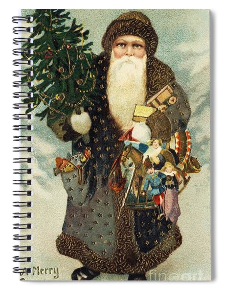 Santa Claus With Toys Spiral Notebook