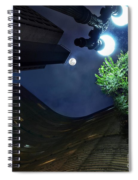 Copan Building And The Moonlight Spiral Notebook