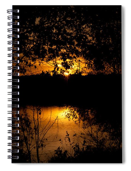 Spiral Notebook featuring the photograph Scary Sunset by Edward Peterson