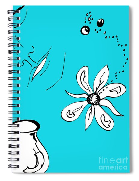 Serenity In Blue Spiral Notebook