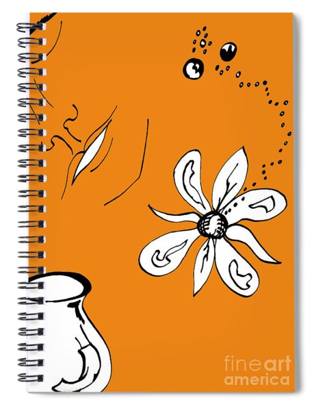 Serenity In Orange Spiral Notebook