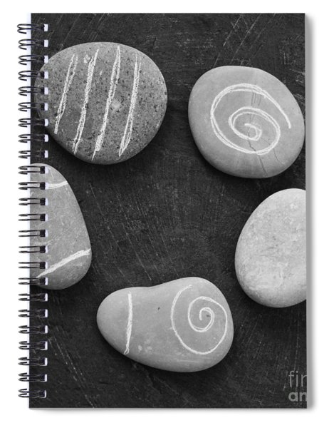 Serenity Stones Spiral Notebook by Linda Woods