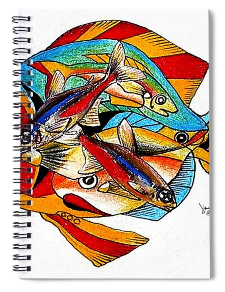 Seven Fish Spiral Notebook