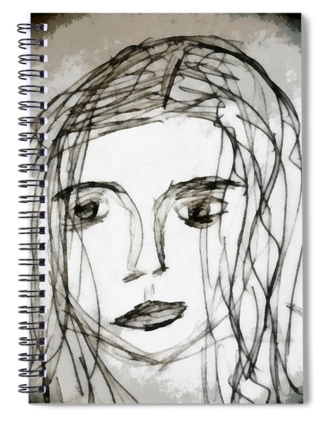 She Sat Alone Spiral Notebook