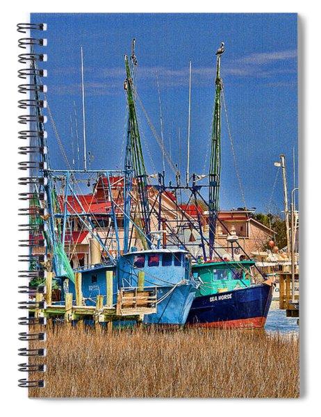 Shem Creek Shrimpers Spiral Notebook
