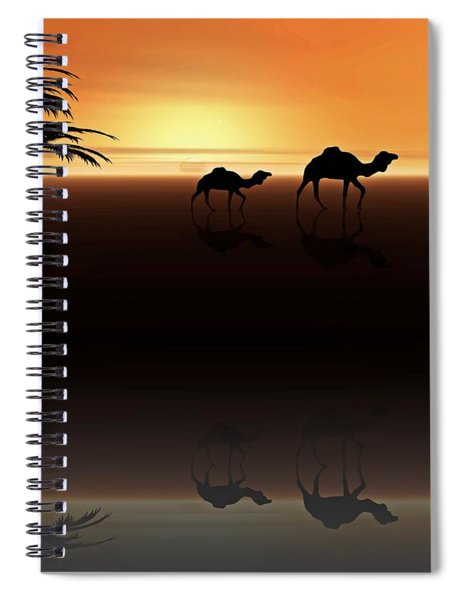 Ships Of The Desert Spiral Notebook