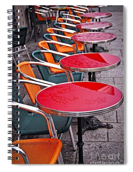 Sidewalk Cafe In Paris Spiral Notebook
