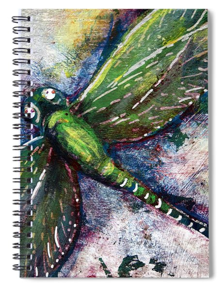 Silver Dragonfly Spiral Notebook