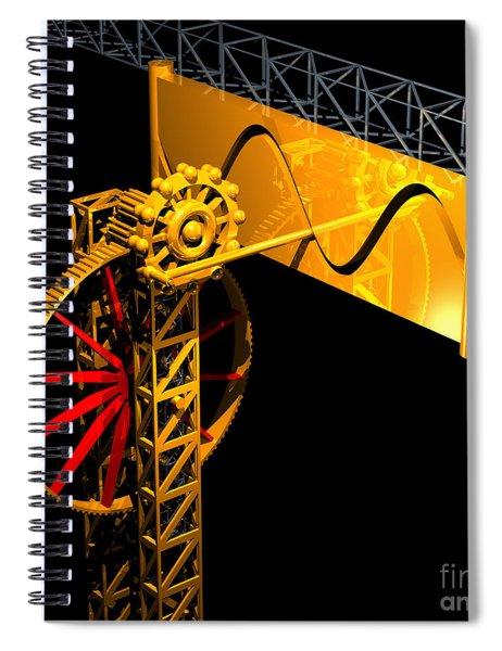 Sine Wave Machine Spiral Notebook