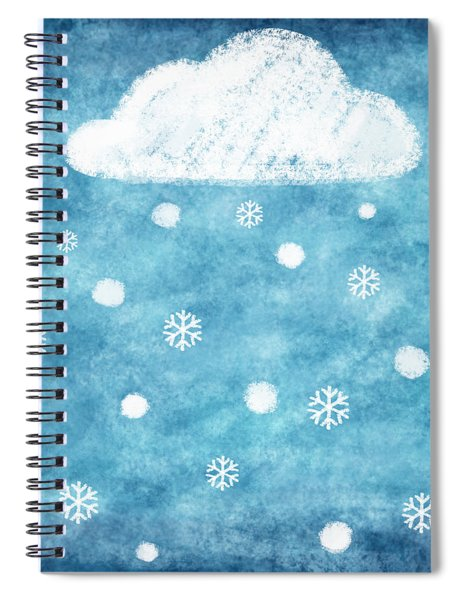 Snow Winter Spiral Notebook