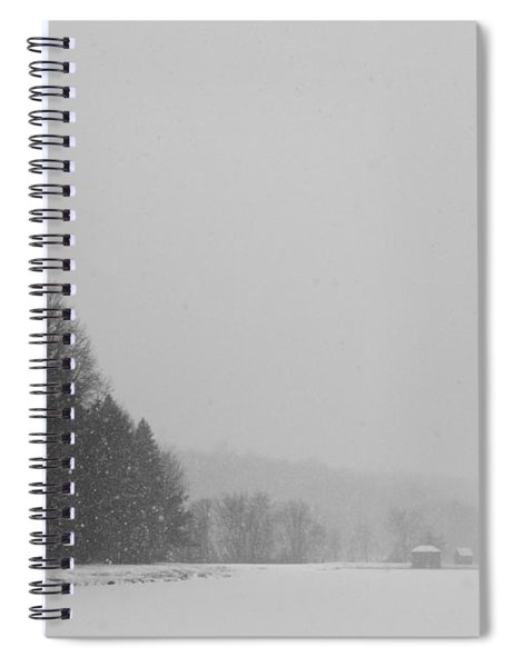 Snowy New England Countryside Spiral Notebook