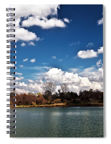 Spiral Notebook featuring the photograph Spring Clouds by Edward Peterson
