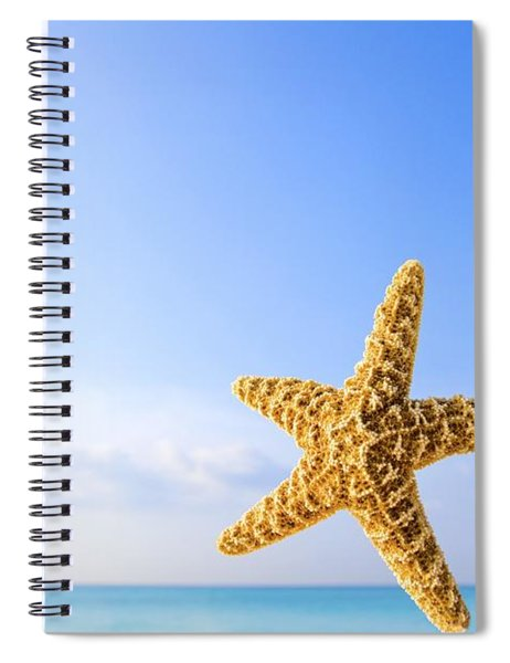 Starfish In Front Of The Ocean Spiral Notebook