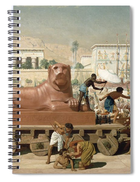 Statue Of Sekhmet Being Transported  Detail Of Israel In Egypt Spiral Notebook