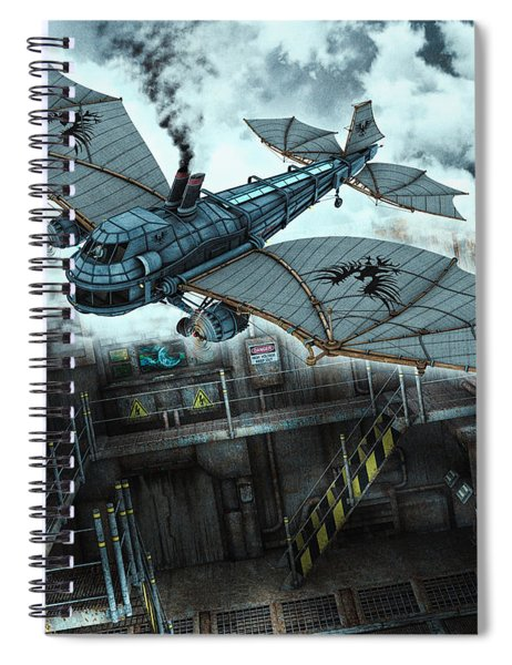 Steam Dragon Crossing Spiral Notebook