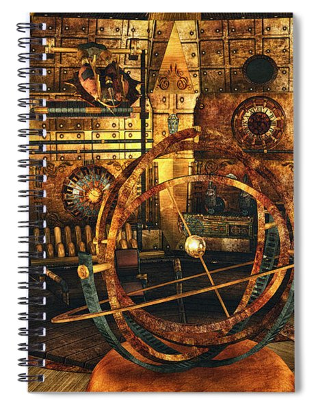 Steampunk Time Lab Spiral Notebook
